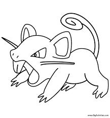 rattata coloring pokemon