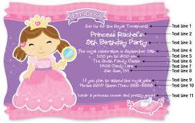 princess party invitation wording u2013 frenchkitten net