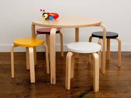 childrens table and stools picture 19 of 33 kid table and chairs new mocka table and stool