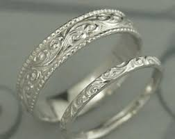 Crown Wedding Rings by King And Queen Check Mate Crown Wedding Bandshis And Hers