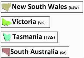 Australian States Map by Suzie U0027s Home Education Ideas Australia Map Printable