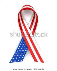 white blue ribbon white blue ribbon 4th july stock illustration 278344154