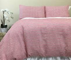 striped linen duvet cover