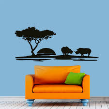 Amazon Com Dandelion Wall Decals by Wall Decals Landscape Sunset Rhino Decal Nursery Art Bedroom Vinyl