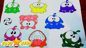 rainbow om nom coloring book coloring pages learning colors with