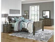 Grey Sleigh Bed Lewiston Grey Complete Queen Sleigh Bed Badcock U0026more