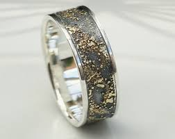 rustic mens wedding bands gold chaos rustic men s wedding ring in 18kt gold and