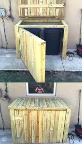 trendy garbage can storage patio trash receptacle garbage storage