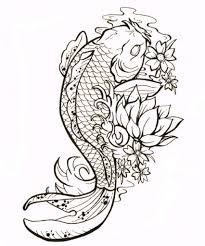 black and grey koi fish tattoo tattoo fantastic