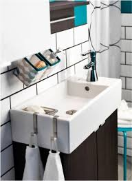 bathroom sink ikea bathroom is partially under the stairs a small sink for a small