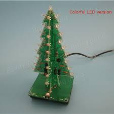 led christmas tree geekcreit christmas tree led flash kit 3d diy electronic learning