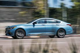 sports cars side view 2018 genesis g80 sport first test review motor trend