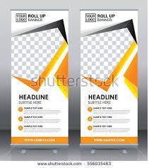 free printable vertical banner template roll banner template design brochure flyer stock vector 556035463