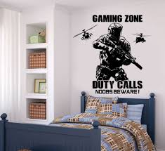 gaming boys room decal gaming zone call of duty style solider with gaming boys room decal gaming zone call of duty style solider with helicopter bedroom wall sticker teenboys playroom vinyl