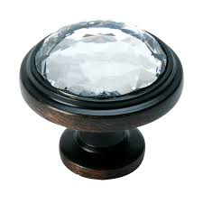 Clear Cabinet Knobs Oil Rubbed Bronze U0026 Clear Glass Round Cabinet Knob