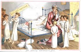funny christmas cards vintage printable xmas greetings boys in bedroom 1881 no 04 in series of four amusing vintage christmas cards