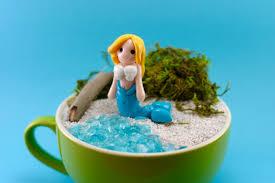Mermaid Fairy Mermaid Figure Cake Topper Terrarium Accessory Fairy Garden