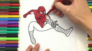 spiderman coloring pages kids drawing color spiderman