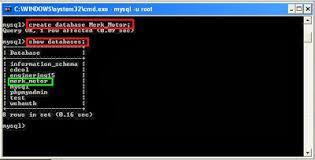 Membuat Database Lewat Cmd   membuat database menggunakan cmd dan xampp la lab ti berbagi