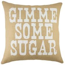 thewatsonshop gimme some sugar burlap throw pillow walmart com