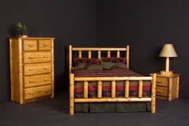pine log bed 4 available in king queen full and twin also