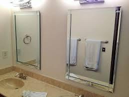 Bathrooms On A Budget Beveled Mirror Bathroom On A Budget Fancy And Beveled Mirror