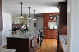 impressive long skinny kitchen island with clear glass kitchen