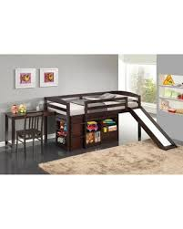 Bunk Bed Espresso Amazing Savings On Destin Junior Loft Bed With Slide
