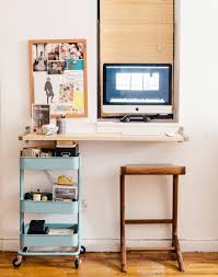 Small Desk For Small Space Small Space Solutions The Wall Mounted Desk Apartment Therapy