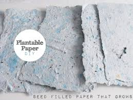 plantable paper kanelstrand wekend diy handmade plantable paper
