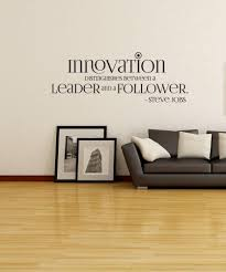 vinyl wall decal sticker steve jobs innovation quote os dc510