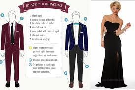black tie attire what to wear to a creative black tie wedding