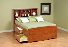 Captain Bed With Storage Bedroom Platform Bed With Built In Nightstands Queen Storage