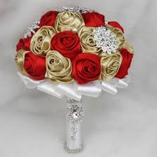 Red Wedding Bouquets Custom Made Red And Champagne Wedding Bouquets Colorful Romantic