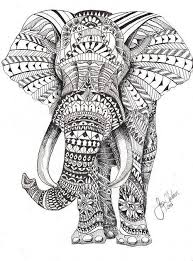 16 dessins de coloriage éléphant Mandala à imprimer …  Dessins  Pinte…