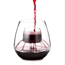 stemless fountain aerating wine glass set wine tumblers