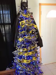 christmas tree decorated like batman batman christmas tree