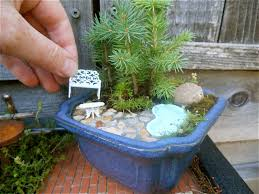 Mini Water Garden Ideas Miniature Garden With A Real Water Feature Water Features