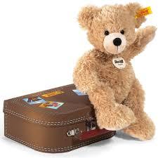 steiff beige fynn teddy bear in suitcase 31 00 hamleys for