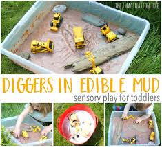 thanksgiving sensory bin diggers in edible mud sensory play the imagination tree