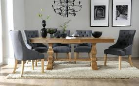 Extending Dining Table And 6 Chairs Oxford Oak Extendable Dining Table And 6 Brown Chairs Bordeaux