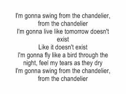 Im Gonna Swing From The Chandelier Acoustic Guitar Lyrics
