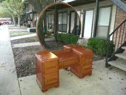 Antique Dresser Vanity Antique Vanity With Round Mirror Value Round Designs