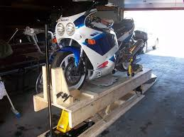 Motorcycle Lift Table by Wooden Motorcycle Lift By Sauceman Homemade Motorcycle Lift