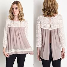 baby doll blouses monika sf today only latte lace baby doll blouse from