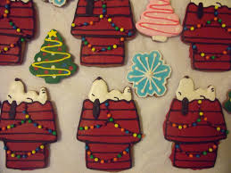 festive charlie brown christmas cookies between the pages
