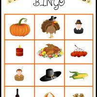 thanksgiving bingo tiles