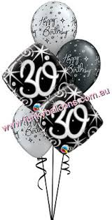 30th birthday balloon bouquets 30th birthday funky balloons brisbane qld helium balloon gift