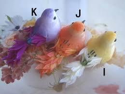 24 pcs x 3 artificial foam birds ornament decorative bird craft