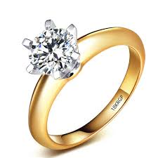 carved engagement rings yhamni carved 18krgp st gold rings 2ct cz diamant engagement